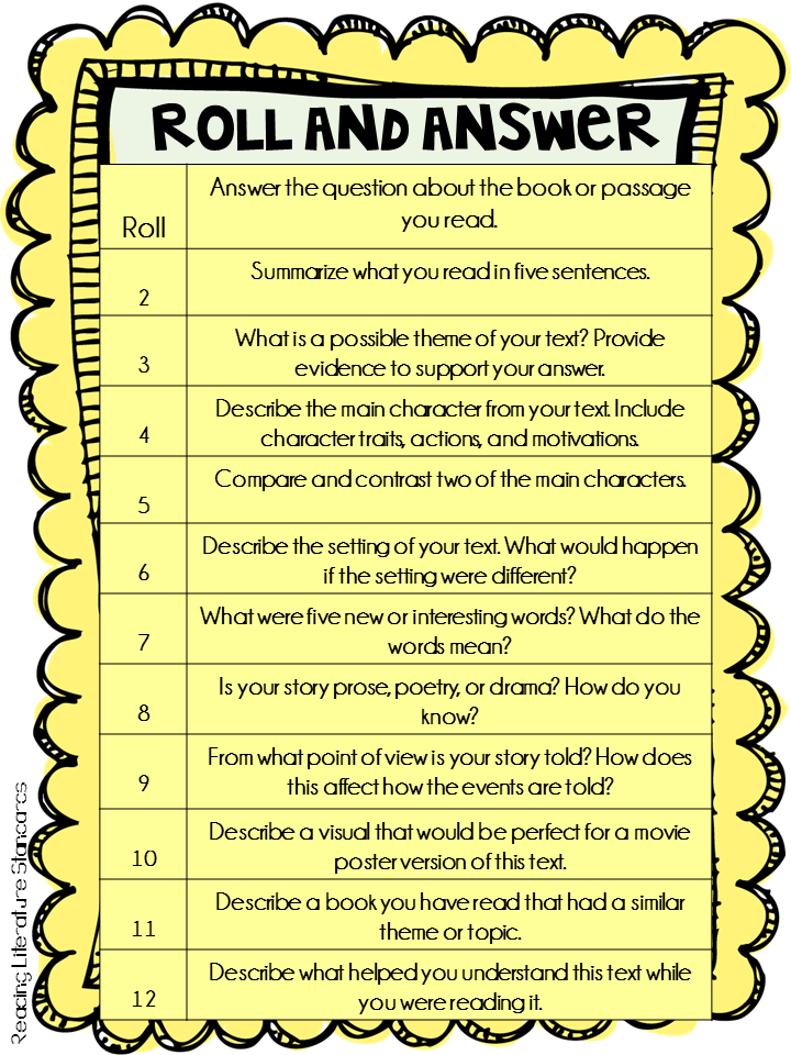 http://www.teacherspayteachers.com/Product/Common-Core-Reading-Response-Center-Roll-and-Answer-Freebie-1641203
