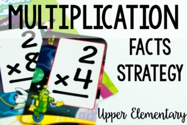 Multiplication Facts Strategy for Upper Grades {Freebies}