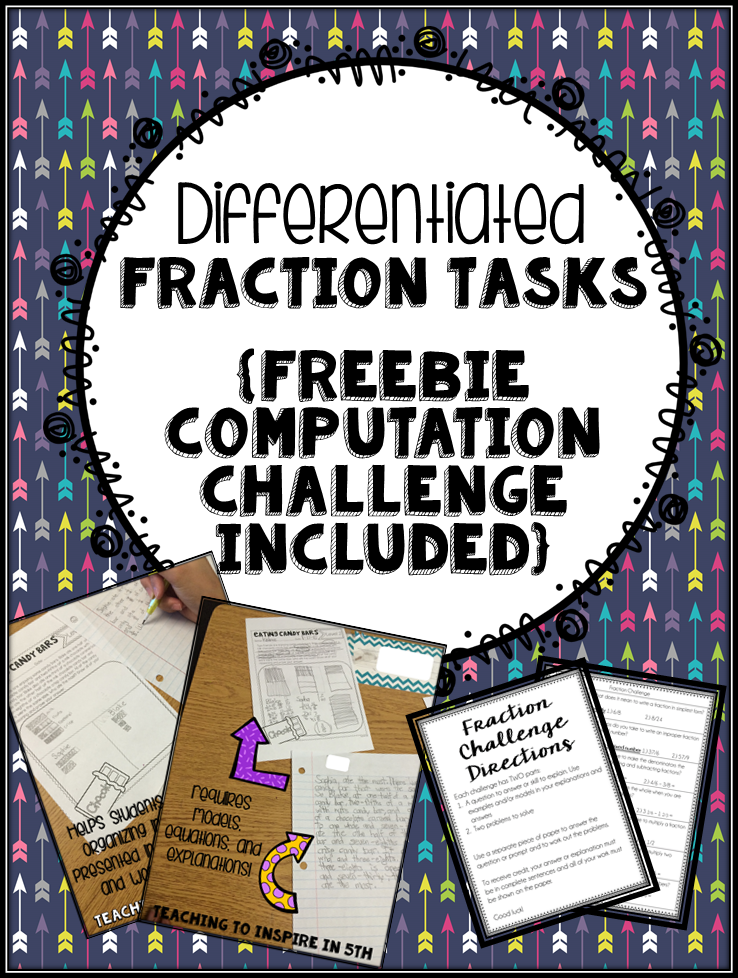 Differentiated Fraction Tasks {And FREEBIE Computation Challenge}