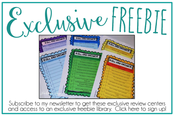 Subscribe to my newsletter to get exclusive freebies!