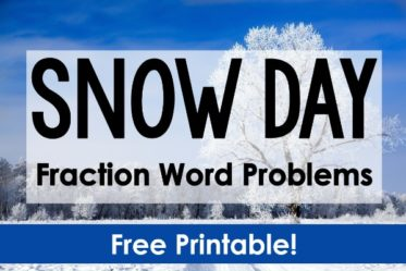 "Engage your students before or after a snow day with these FREE snow day fraction word problems! Have snow and snow day math ""fun""!"