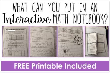 Interactive math notebooks are not a one-size-fits-all approach. Read what I put in my interactive notebooks and grab a freebie on this post!