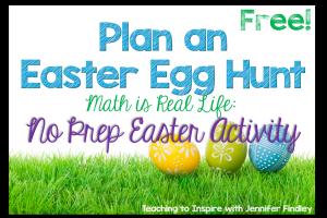 Plan an Easter Egg Hunt Freebie!