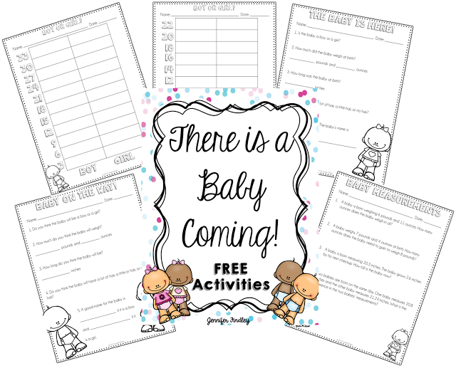 Math is Real Life - New Nephew & Free Baby Printables for the Classroom