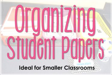This post shows three very simple ways of organizing papers in an upper elementary classroom. These tips are ideal for organizing in small classrooms with large class sizes.