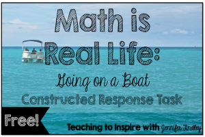 Constructed Response Freebie {Math is Real Life}