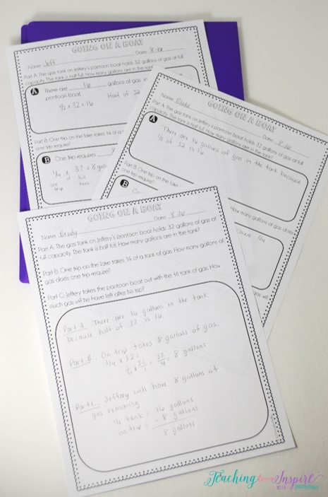 Multi-part word problem freebies