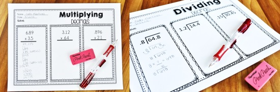 This post shares a look at a must-have resource for teaching 5th grade decimals.