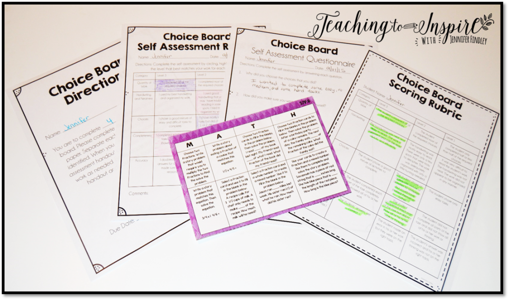Free Choice Board Resources