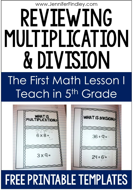 My 5th graders often need a reminder of what multiplication and division is, either because they lack a conceptual understanding or they haven't had a strong foundation in what both operations are. That's why reviewing multiplication and division in a conceptual way is my first skill-specific math lessons of the year. Read more and grab the multiplication and division review templates I use for free here.