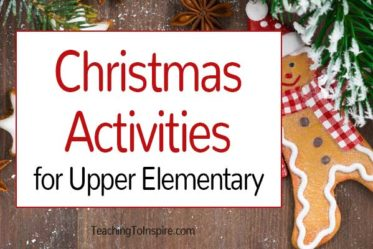 Upper elementary students can enjoy Christmas activities, too! Check out this post for Christmas activities for upper elementary, including freebies!