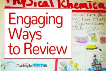 This post is a round up of  some of my favorite engaging ways to review that are student approved. These are also pretty low prep and easy to implement.