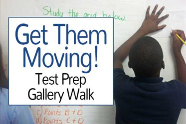 This test prep gallery walk may be my favorite test prep strategy. It is a spin off a gallery walk and gets kids moving and critiquing each other's work.
