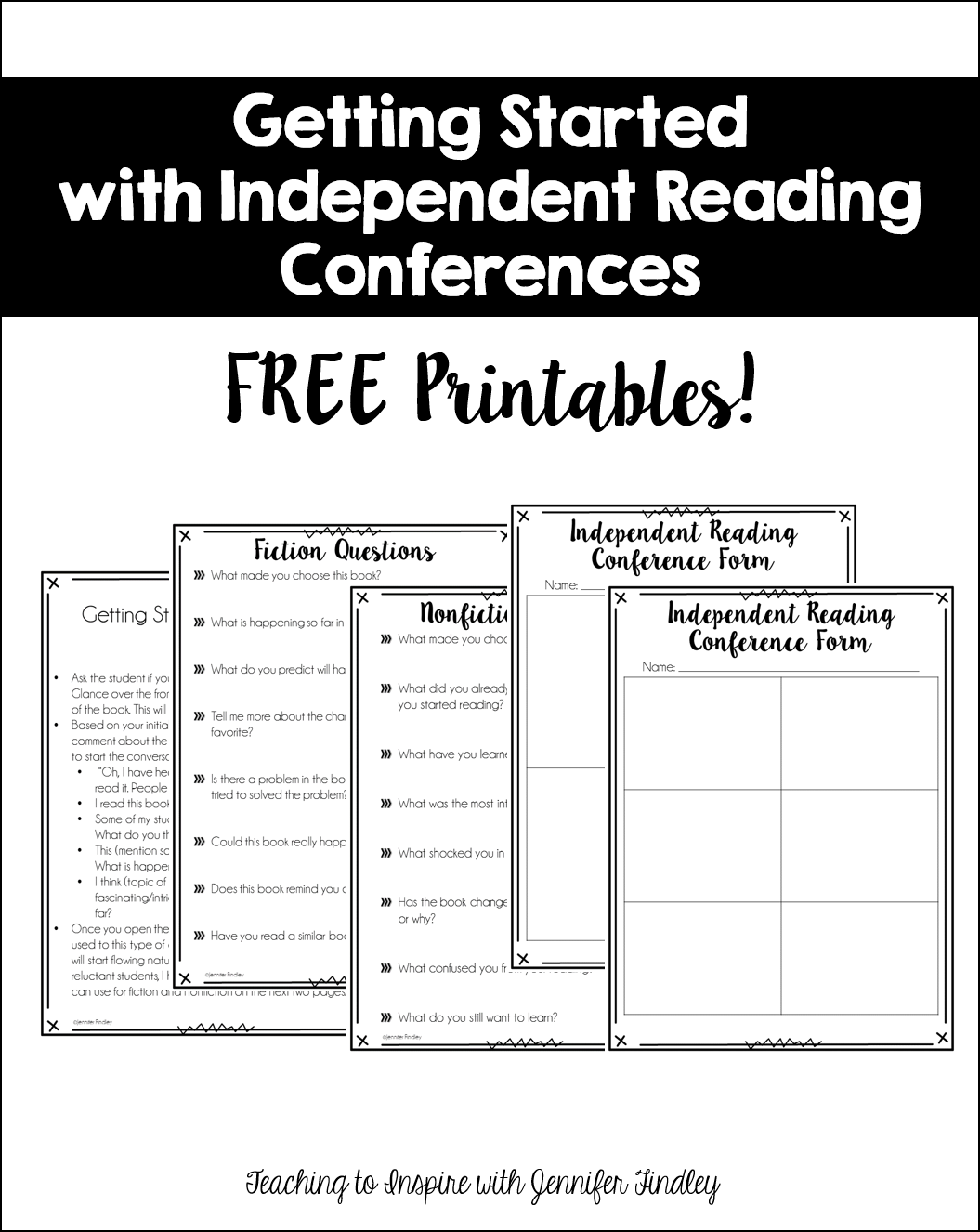 Getting Started with Independent Reading Conferences Free Printables
