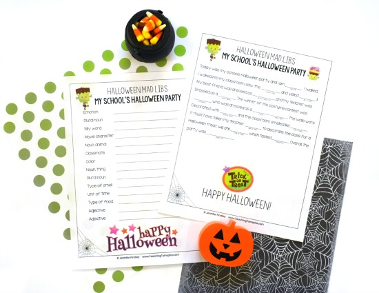 FREE Halloween mad lib! Embrace your students' excitement about Halloween with these Halloween activities for grades 4-5, including math, science, and read alouds! Freebies included!