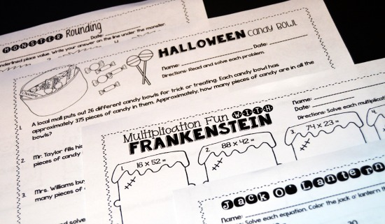 Halloween math printables for grades 4-5! Embrace your students' excitement with these themed Halloween math activities.