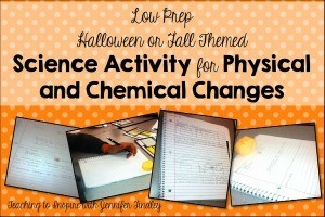 Easy No Prep Physical and Chemical Changes Activity for Fall