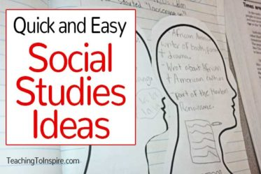 Social studies can engaging and meaningful to teach! This post shares two Social Studies ideas that are quick and easy to implement.
