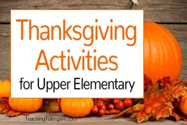 Thanksgiving is one of my favorite holidays to incorporate into the classroom. I have compiled my favorite Thanksgiving activities for upper elementary grades in this post.