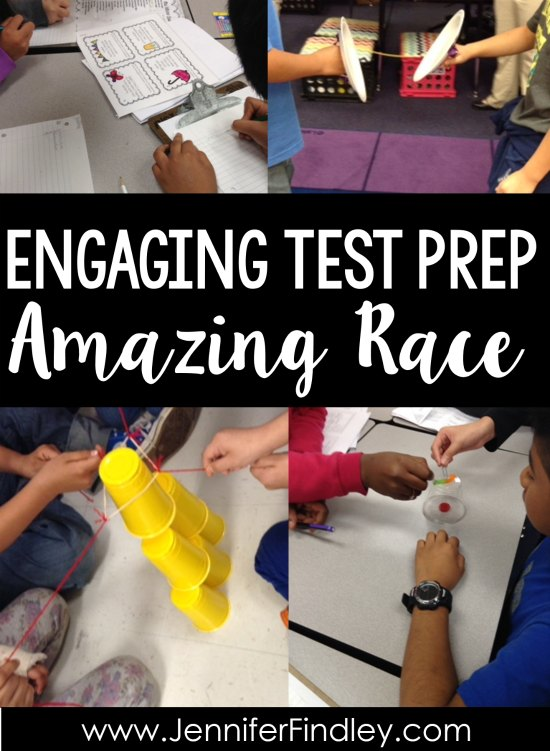 Amazing Race challenges are a super engaging way to review before state assessments. Click through to read more about this fun test prep activity that works with any subject area or skill.