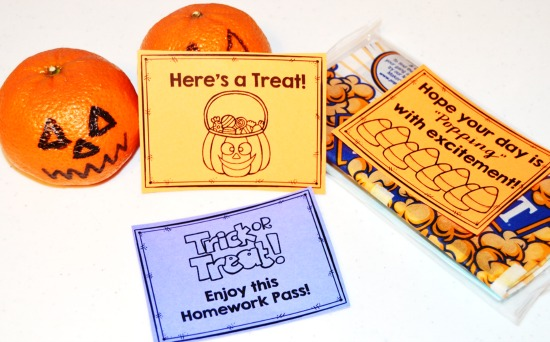 Halloween treats for students that are not candy! Free printable!