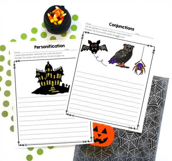 Free Halloween grammar and language activities for 4th and 5th grade!