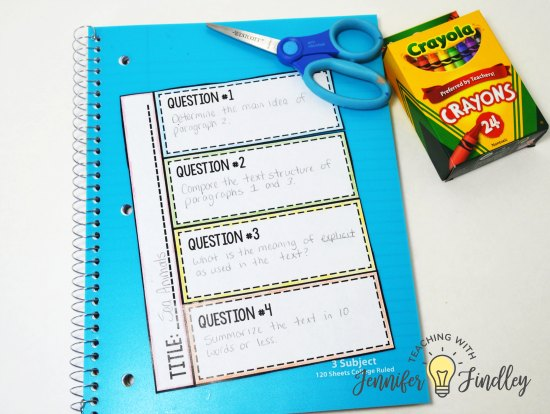 Rewrite your test prep questions into a foldable format for some novelty with test prep. Read more tips to make paper and pencil test prep more engaging on this post.