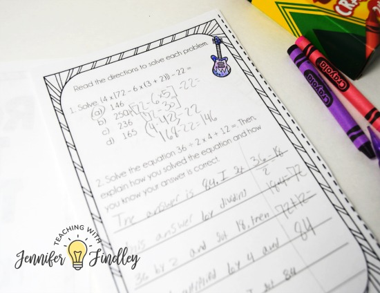 Something as simple as using a mini-booklet format for test prep can mix things up and make test prep a bit more engaging. Read more tips for making paper and pencil style test prep more engaging on this post.