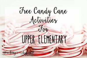 Candy Cane Activities for Upper Elementary {Free}