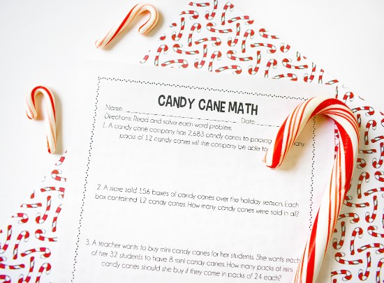 Free Candy Cane Activities: Activities and printables for math, science, reading, and technology on this post. Perfect for December!