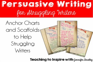 Persuasive Writing Anchor Charts for Struggling Writers {Lots of Pictures}