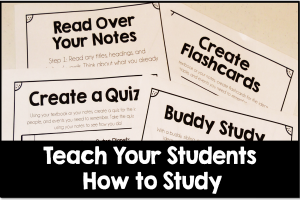 Teaching Students How to Study