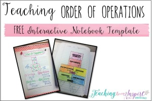 Teaching Order of Operations {Free INB Template}
