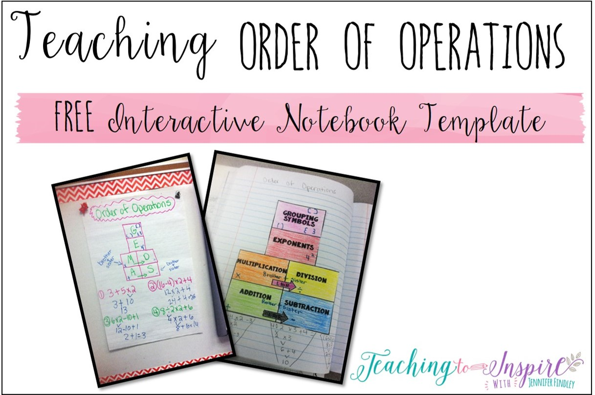 Teaching Order Of Operations Free Inb Template