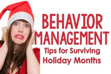 Behavior management ideas for surviving the holiday months in the classroom. This post shares several classroom management tips for the month of December!
