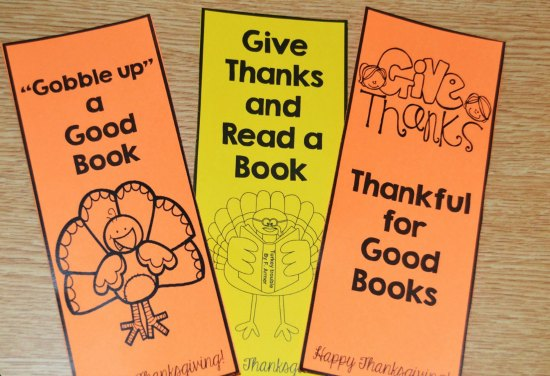 Free Thanksgiving bookmarks! Check out this post for Thanksgiving activities for math, literacy, and more! A few free Thanksgiving activities included!