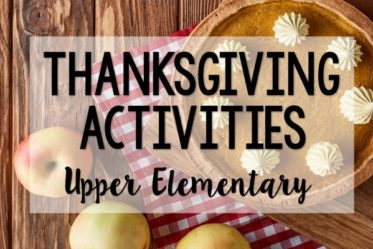 Thanksgiving activities for 4th and 5th graders! The week before Thanksgiving break can be a challenge. Check out this post for Thanksgiving activities for math, literacy, and more! A few free Thanksgiving activities included!