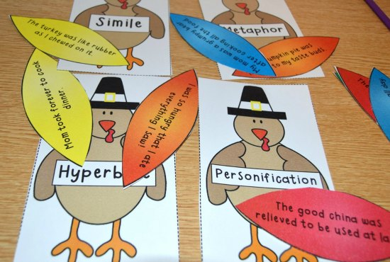 Thanksgiving figurative language activity! Thanksgiving activities for 4th and 5th graders! The week before Thanksgiving break can be a challenge. Check out this post for Thanksgiving activities for math, literacy, and more! A few free Thanksgiving activities included!