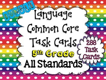 5th Grade Language Task Cards