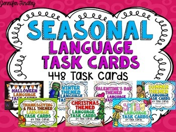 Seasonal Language Task Cards
