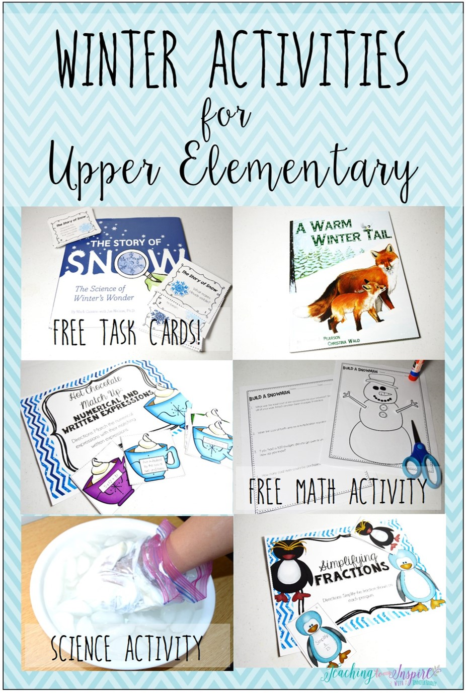 Lots of winter activities for upper elementary students, including math, literacy, and science.