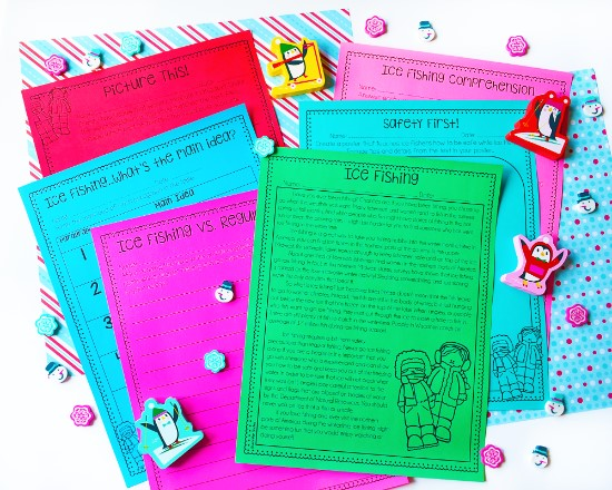 Winter reading comprehension passages and activities that are perfect to send home over winter break.