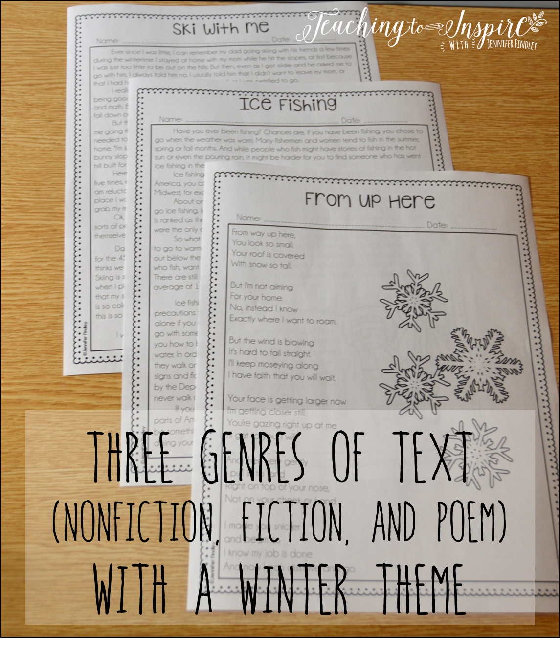 Winter Activities for Upper Elementary - Teaching to Inspire with ...