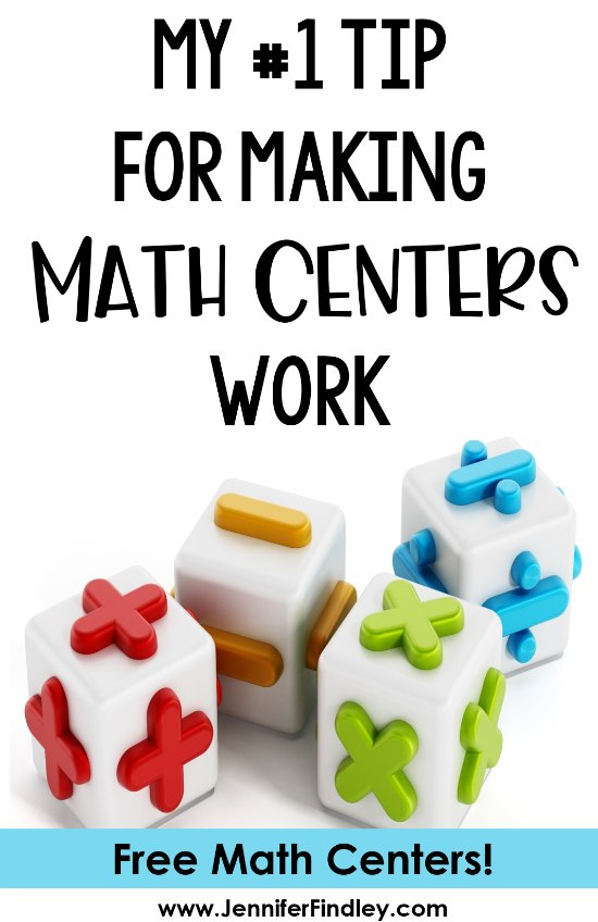 Math centers can be game changers for a math instruction and students' learning. Click to read my #1 tip for making math centers work for me and grab some free math centers!