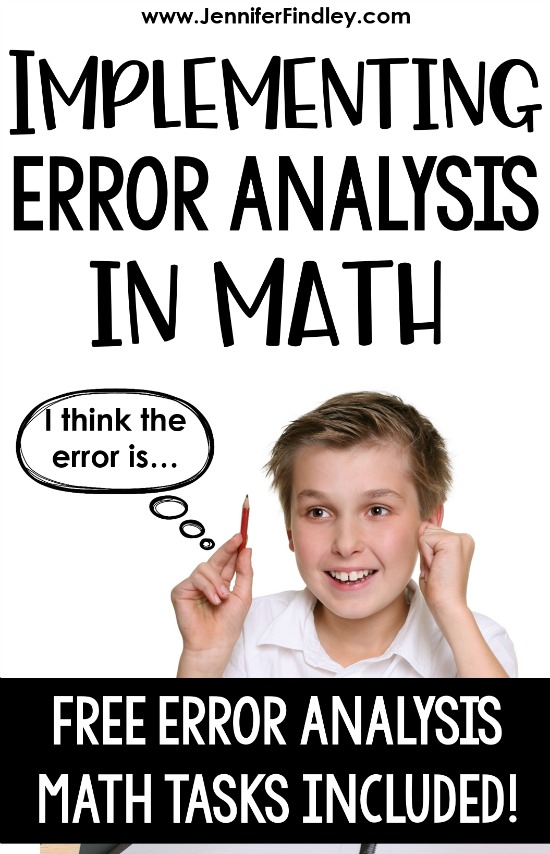 Want to help your students analyze math at higher levels? This post breaks down why students analyzing math errors is important and how you can easily implement this into your classroom. Free error analysis math tasks included.
