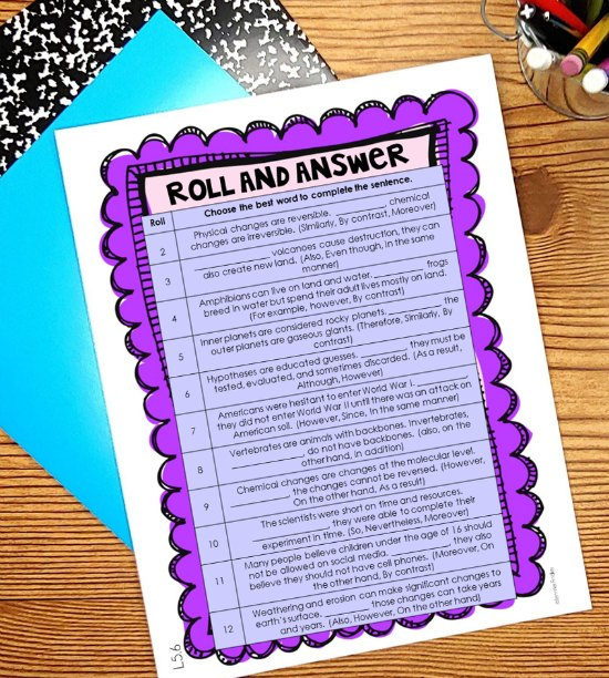 FREE 5th grade language partner center! Language and grammar instruction can get routine and monotonous very easily. Read about four ways to easily gamify your language instruction and grab a freebie!