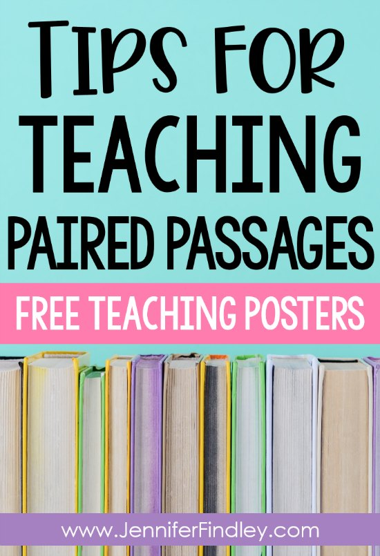 Need new tips for how to teach paired passages in your classroom? Read to learn five tips for teaching paired passages and paired texts. FREE posters and paired passage activities included!