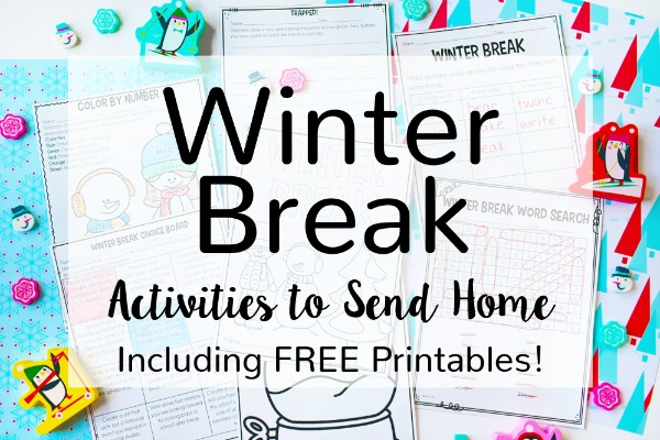 Do you send home a winter break pack with your students? Read this post to read what I send home and grab a free fun winter break pack.