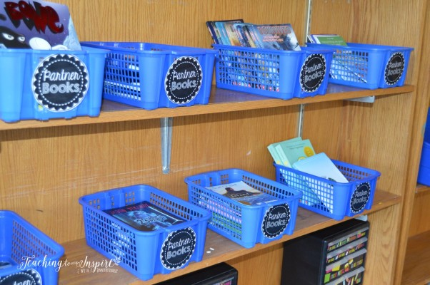 Partner reading is a great way to get your students reading and sharing their ideas in an authentic manner. Read more about one teacher uses partner reading and grab some free book basket labels.