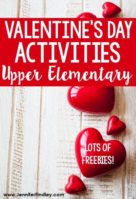 Big kids can have Valentine's Day fun, too! This post shares a variety of engaging and rigorous activities for Valentine's Day with upper elementary students, including FREE Valentine's Day activities!